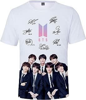 Girl's Novelty Tee Shirts Kpop BTS Summmer Shirts J-Hope RM Jimin V Jung Kook Show Love for Bangtan Boys