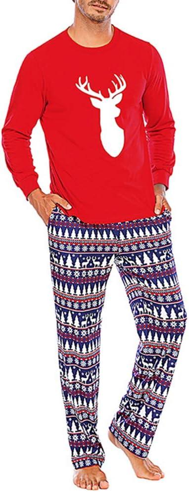 CAMILYIN Matching Family Christmas Pajamas Set 2 Pieces Festival Holiday Family Pyjamas Matching Dad Warm One Piece Sleepwear,Men,XL