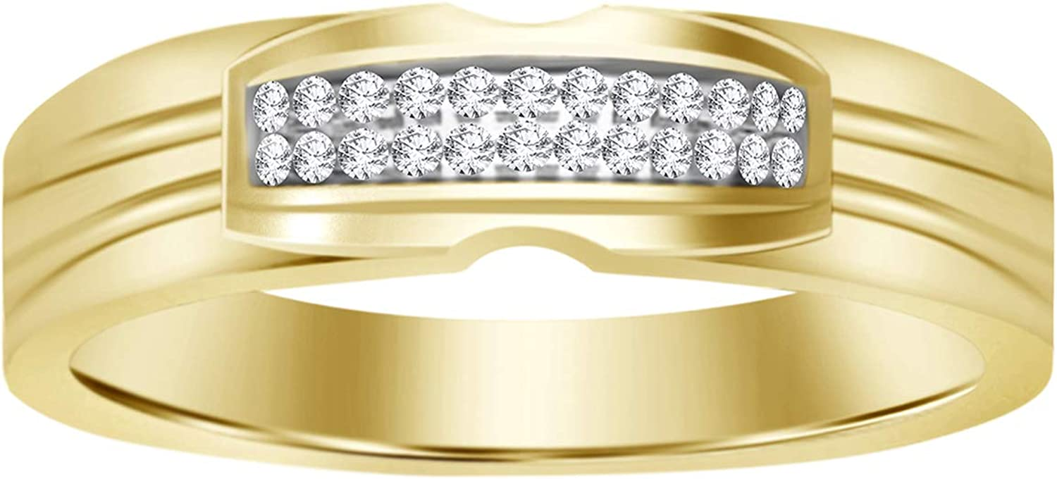Eternal Bliss Round Diamond Accent 10K Solid Gold Men's San Antonio Mall Gifts W Yellow