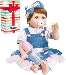 JOYMOR 22 Inch Reborn Baby Doll Silicone Vinyl Lifelike Realistic Child Growth Partner Birthday Gift Vivid Real Looking Dolls Washable Soft Body Lovely Simulation Fashion