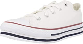 Converse Chuck Taylor All Star Platform EVA Ox Everyday Ease Blanco/Azul (White/Midnight Navy) Tela Adolescentes Entrenado...