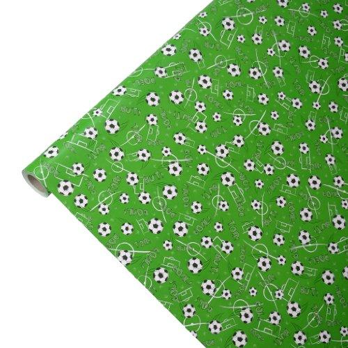 JUNOPAX 48369579 Geschenkpapier 50m x 0,75m Fußball