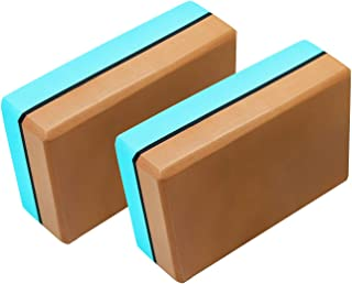 Haining Non-Slip Yoga Block (2 Pack) High Density EVA Foam Block for Yoga, Pilates, Meditation, Workout, Fitness & Gym