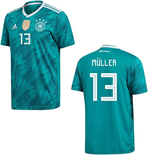 Adidas Maillot de football pour rencontre à l'extérieur Pour homme Coupe du Monde 2018 DFB Deutschland Müller 13