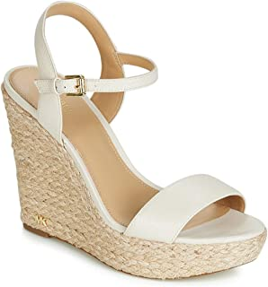 Michael Kors Woman's Jill Ivory Leather Wedge Sandal