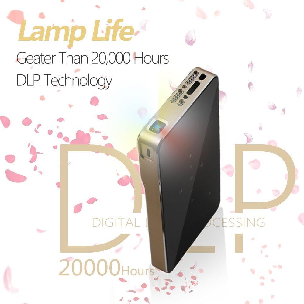 iCODIS G1 Mini Projector, DLP Support Full HD 1080P, HDMI & WiFi Wireless Connectivity, Portable Size & 120
