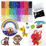AISHNA Bügelperlen, Beads Kit, 24 Farben Fusion Beads 7200 Stück, Fusion Perlen, 5mm DIY Art Craft Toys Eisenperlen für Kinder, Bead Melting Craft Kit.
