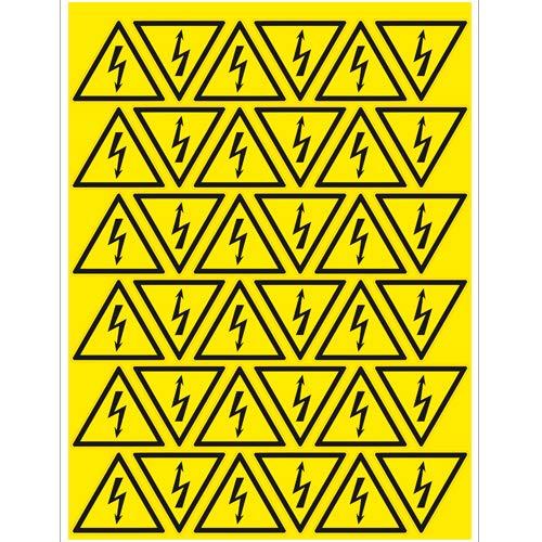 Warnung vor gefährlicher elektrischer Spannung 50 mm / 36 Stck