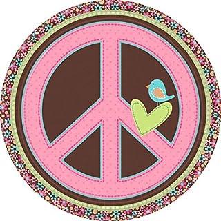 Amscan 9-inch International Hippie Chick Plates