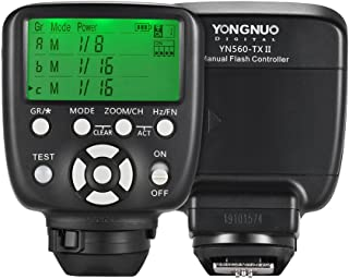 YONGNUO YN560 TX II Trigger Fernbedienung LCD Sender für Canon DSLR Kamera zu YN560III / YN560IV / YN660 / YN968N / YN860Li Speedlite RF 602 / RF603 / RF603 II
