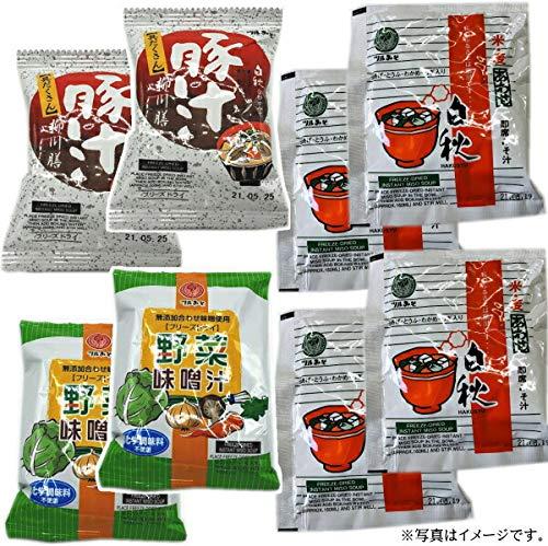 鶴味噌 フリーズドライみそ汁 白秋合わせ4食&豚汁柳川膳2食&野菜味噌汁2食セット