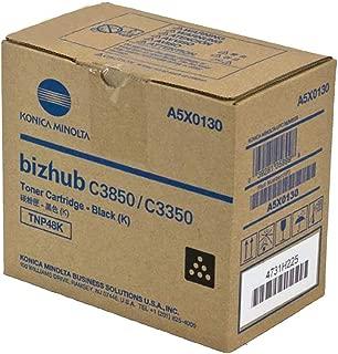 Konica Minolta TNP48 Bizhub C3350 C3850 Toner Cartridge (Black) in Retail Packaging