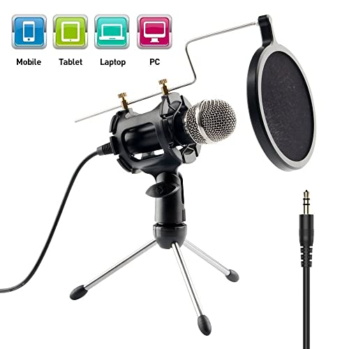 ccfe751369f62 Imbeang Condenser Microphone with Audio Y Splitter