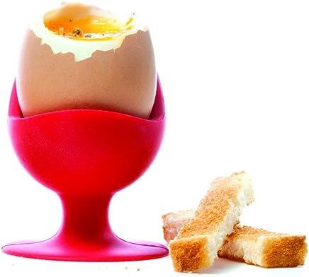 Preisvergleich für Brainstream Egg Chair in Klarsicht-Geschenkbox, Eierbecher, Eierhalter, Weinrot, A001564