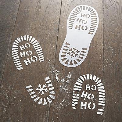 Santa's Christmas Eve Footprint Stencils