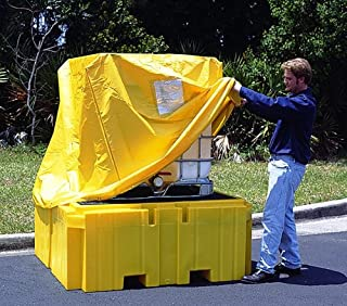 UltraTech 1055 IBC Spill Pallet Pull Over Cover, Yellow