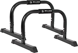 5BILLION XL Push Up Stands Parallettes Dip Bars with Non-Slip Foam Handle & Rubber Feet Workout for Handstand Muscle Ups P...
