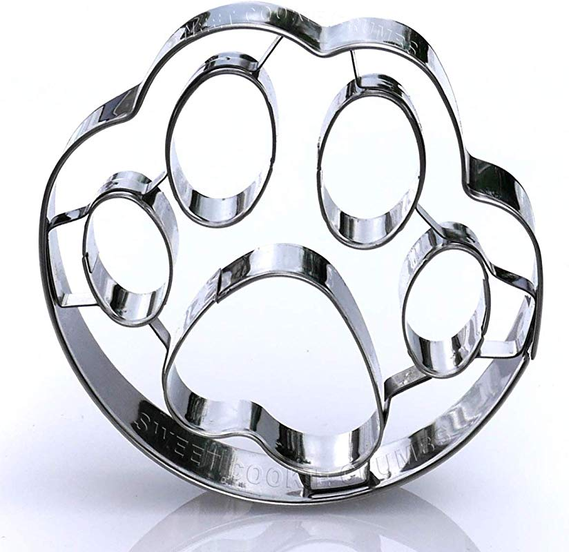 Dog Paw Cookie Cutter Stainless Steel