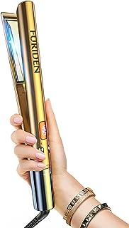 FURIDEN Hair Straightener, Flat Iron, Hair Straightener and Curler 2 in 1, Flat Iron Curling Iron in One, Flat Iron for Bl...