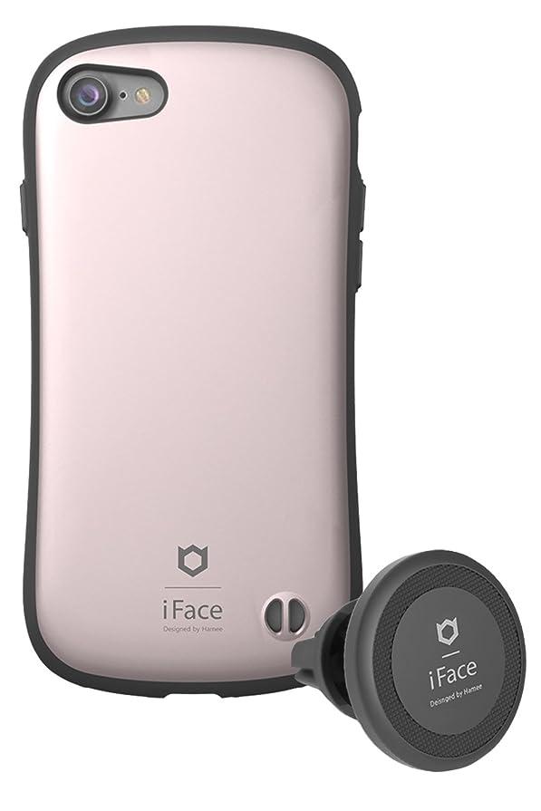 デッドロック指紋ニュースiPhone8 iPhone7 ケース 耐衝撃 iFace Duo Set 車載ホルダー セット 正規品/メタリック/ローズゴールド