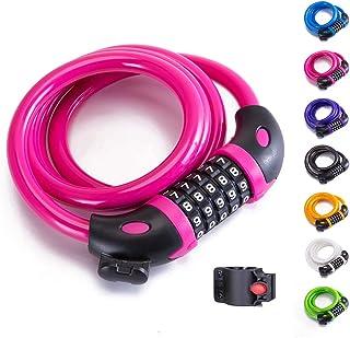 XZSUN Bike Lock Bicycle Lock Chain ,5-Digit Combination...