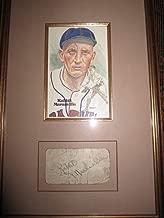 Autographed Rabbit Maranville Photo - Framed Cut Nice - JSA Certified - Autographed MLB Photos