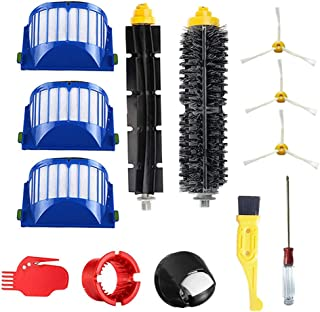 JUMBO FILTER Replacements Parts for iRobot Roomba 600 Series for 595 610 614 620 630 635 645 650 655 660 665 671 680 690 695 Accessories, Filters & Brushes & Front Caster Wheel & 3-Armed Side Brush