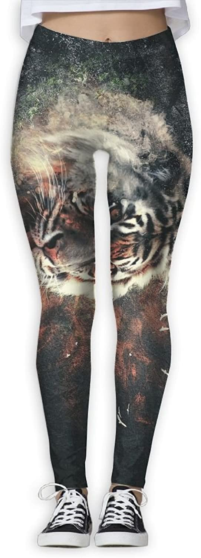 EWDVqqq Girl Yoga Pant Animal Tiger Face High Waist Fitness Workout Leggings Pants
