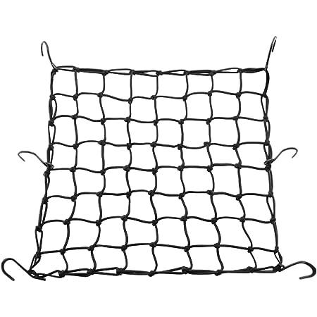 Cofit Dehnbares Cargo Netz 40 X 40 Cm Super Elastic Cords Auf Rädern Motorräder Und Scooter Baskets Mit Sechs Haken Für Den Gepäcktransport Auto