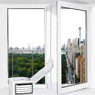 Fensterabdichtung für Mobile Klimagerät Abluft-Wäschetrockner 400cm Fensterabdichtung Klimaanlage Hot Air Stop zum Anbringen an Fenster, Dachfenster, Flügelfenster