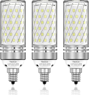 TSOCO E12 LED Bulbs,16W LED Candelabra Bulbs,120W Incandescent Bulb Equivalent,1400LM,6000K Daylight White, E12 Base Non-Dimmable LED Lamp,Pack of 3