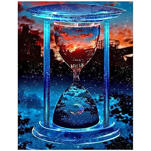 5D pintura diamante taladro completo kit Reloj de arena DIY Diamond Painting rhinestone bordado de Punto de Cruz para la Decoración de la Pared del Hogar regalos artesanía 30x40cm