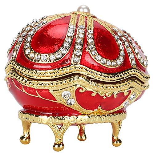 Semiter Baratija Tipo Huevo, Caja de baratijas en Forma de Huevo Muebles en Forma de Huevo Tipo de Huevo reclinado para graduación para coleccionar miniaturas para cumpleaños para decoración del