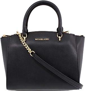 3a519dd1189 MICHAEL Michael Kors Women s ELLIS LARGE Satchel Black Leather Handbag