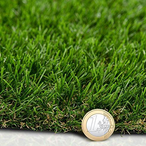 Premium Kunstrasen | Rasenteppich | Rollrasen | Kunststoffrasen | Garten-Rasen | Rasen für Balkon, Terrasse & Garten | viele Modelle | verschiedene Größen & Stärken (Nantes (Höhe: 40mm), 200x500 cm)