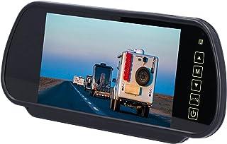 01 Monitor retrovisor de 7 polegadas, câmera retrovisora colorida TFT LCD HD, sistema de estacionamento com controle remot...