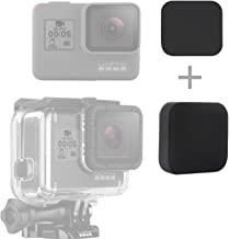 SOONSUN Silicone Lens Cap Cover Kit for GoPro Hero 5 6 7 Black Hero2018 Camera and Housing Case (Include 2 x Lens Caps for Hero5 6 7 Black Camera and Housing)