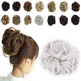 Haironline Scrunchie Bun Up Do Hair Piece Hair Ribbon Ponytail Extensions Wavy Curly