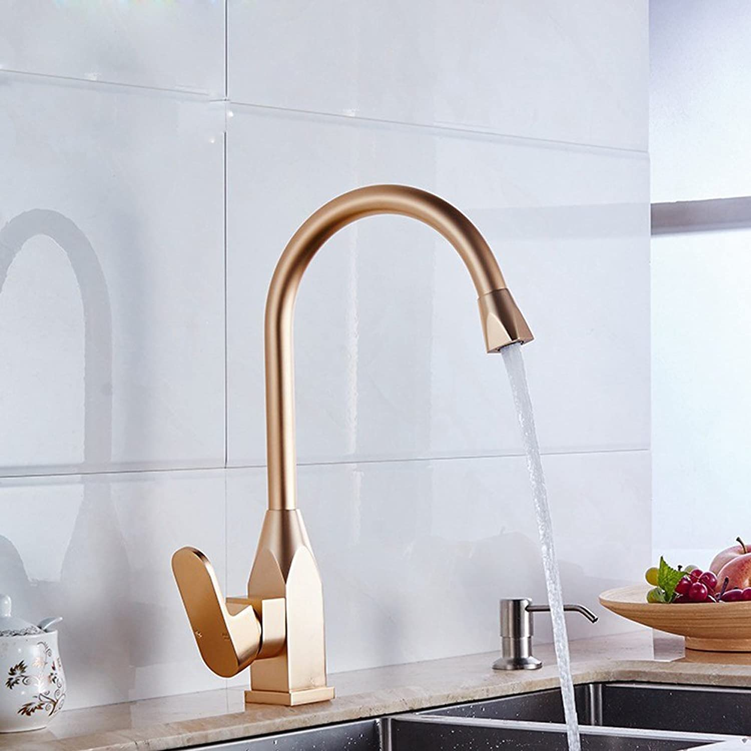 MDRW-Special Faucet In The Kitchen Space Aluminum Kitchen Faucet Lead-Free Tyrant Kitchen Kitchen Basin Faucet