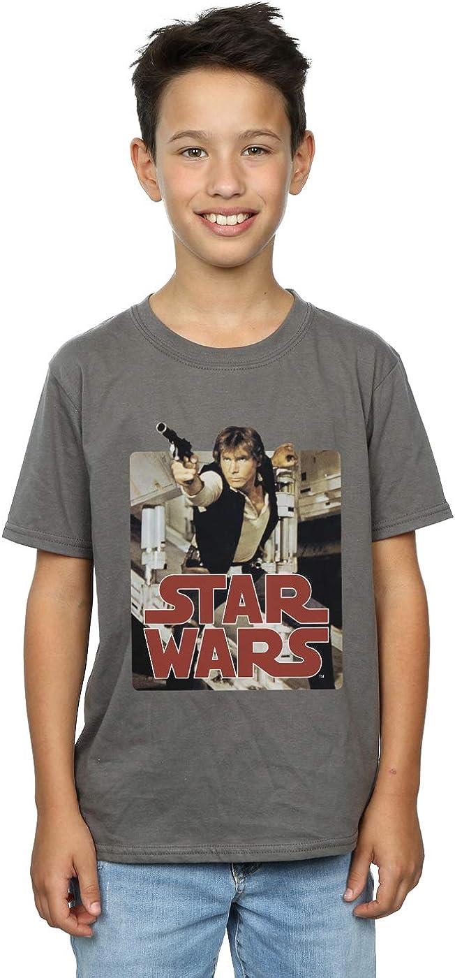 STAR WARS Boys Han Solo Shooting T-Shirt 9-11 Years Charcoal