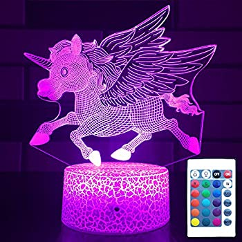 Hllkyylf Unicorn Night Light with Touch & Remote 16 Changing Color