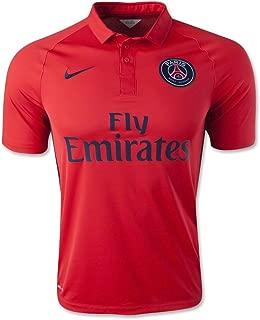 Nike Football Jersey : 2014-2015 David Luiz 32 Paris Saint-Germain FC Soccer Shirt Stadium Version PSG Men