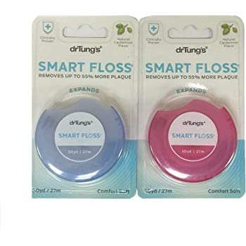 DrTung's Smart Floss, 30 yds, Dental Floss - Natural Cardamom Flavor Colors May Vary (2 Pack)
