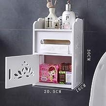 ZMIN geen boren toiletpapier houders, waterdicht toilet Tissue papier doos muur mount met lade badkamer opslag