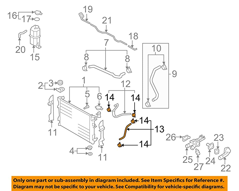 Genuine Hyundai 25420-2H010 Automatic Transmission Cooling Hose Assembly