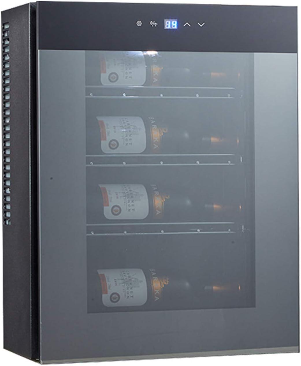 Vinoteca Refrigerador De Vino De 3-18 ° C, Bodega De Bebidas con Puerta De Vidrio Puede Contener Cuatro Botellas De Vino Tinto 65W