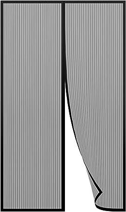 220cm Gimars Zanzariera Magnetica in Rete per Portafinestra con Strisce Adesive e Chiodi da Fissaggio//Tenda Anti-insetti Zanzare per Ingressi Cortili Chiusura Magnetica Sigillo Nero 100