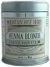 Henna Powder Mountain Rose Herbs - Certified Organic - 4oz (Blonde)