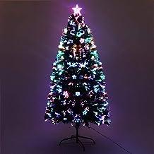 4FT Christmas Tree 1.2M Pre-lit Optic Fibre Xmas Faux Tree Multi-Colour Lighting Effect Jingle Jollys Holiday Decoration I...