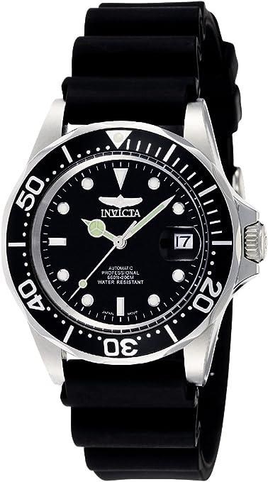 Invicta Men's Pro Diver Black Dial Black Polyurethane
